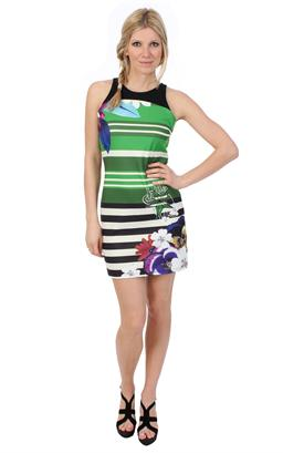 robe desigual verte et blanc all pictures top With robe desigual verte